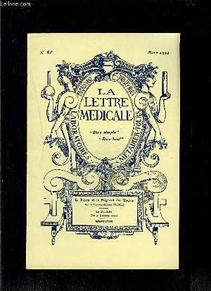 LE LETTRE MEDICALE- N° 67 - mars 1934- Le poison et le poignard des Médicis- La perl&...
