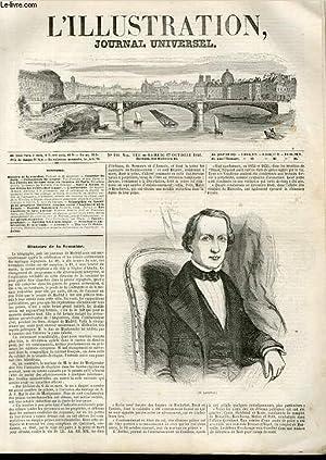 L'ILLUSTRATION JOURNAL UNIVERSEL N° 190 - Histoire dp la semaine. Portrait de M. Leverrier...