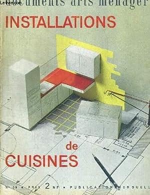 DOCUMENTS ARTS MENAGERS. INSTALLATIONS DE CUSINES N°39. JANVIER 1963. LA PLACE DE LA CUISINE ...