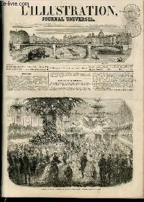 L'ILLUSTRATION JOURNAL UNIVERSEL N° 499-Histoire de la semaine. — Courrier de Paris. — ...