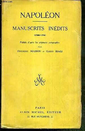 NAPOLEON - MANUSCRITS INEDITS 1786-1791: MASSON FREDERIC -