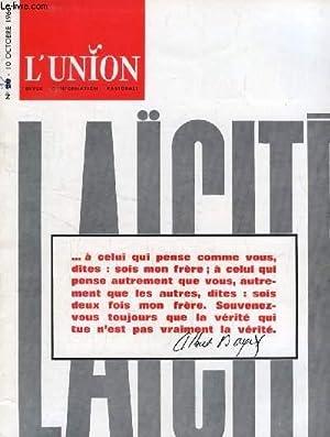 L'UNION, REVUE D'INFORMATION PASTORALE, N° 17, OCT. 1966 (Sommaire: Bilan du Concile:...
