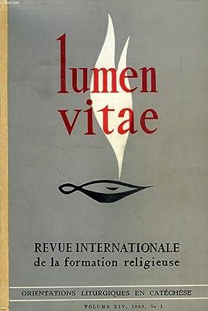LUMEN VITAE, VOL. XIV, N° 1-4, JAN.-DEC. 1959 (RECUEIL) (Sommaire: Piet Schoonenberg, S. J., ...