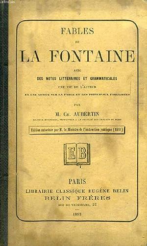 FABLES DE LA FONTAINE: LA FONTAINE J. DE, Par Ch. AUBERTIN