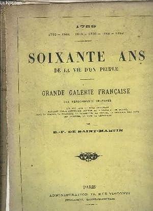 1789-1852 SOIXANTE ANS DE LA VIE D'UN PEUPLE - GRANDE GALERIE FRANCAISE DES PERSONNAGES ...