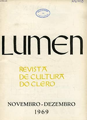 LUMEN, REVISTA DE CULTURA DO CLERO, NOV.-DEZ.: COLLECTIF