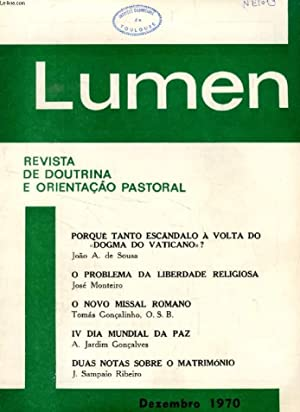 LUMEN, REVISTA DE DOUTRINA E ORIENTAÇÃO PASTORAL,: COLLECTIF