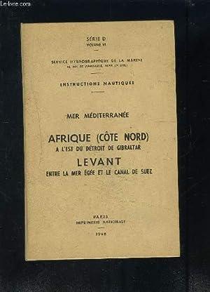 SERVICE HYROGRAPHIQUE DE LA MARINE: MER MEDITERRANEE-: COLLECTIF
