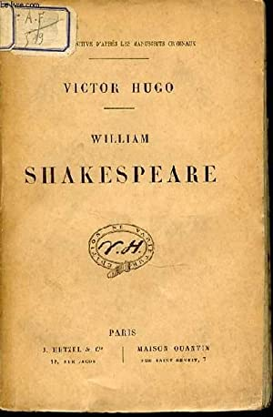 WILLIAM SHAKESPEARE.: HUGO VICTOR