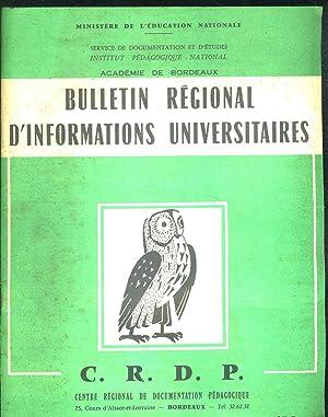 BULLETIN REGIONAL D INFORMATIONS UNIVERSITAIRES N°8. LA TELEVISION ET L ENSEIGNEMENT DU THEATRE...
