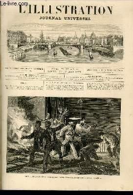 L'ILLUSTRATION JOURNAL UNIVERSEL N° 1587-Texte : Histoire de la semaine. — Courrier de ...
