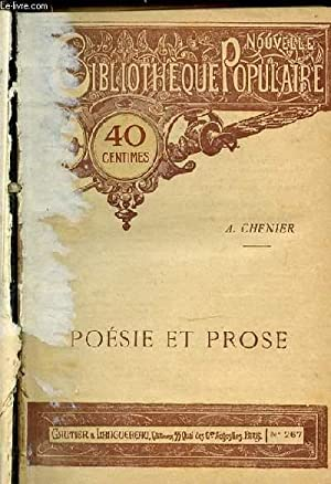 POESIE ET PROSE - LES MESSENIENNES - POESIES - LA GRANDE DEMOISELLE LA BUYERE - ETC. NOUVELLE ...