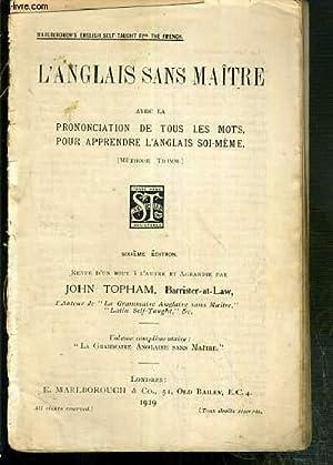 L'ANGLAIS SANS MAITRE AVEC LA PRONONCIATION DE: TOPHAM JOHN