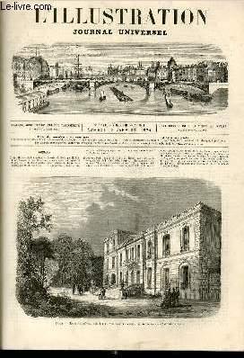L'ILLUSTRATION JOURNAL UNIVERSEL N° 1611-Texte : Histoire de la semaine.   Courrier de Paris, ...