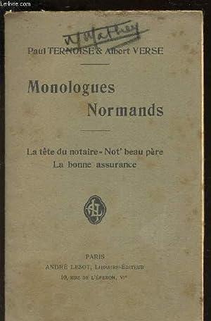 MONOLOGUES NORMANDS / La tete du notaire - Not'beau pere - LA bonne assurance.: TERNOISE ...