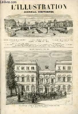L'ILLUSTRATION JOURNAL UNIVERSEL N° 1767- Histoire de la semaine - courrier de Paris - &...