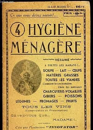 HYGIENE MENAGERE / A toutes les mamans - Soupe - lait - oeufs - matieres grasses - toutes les ...