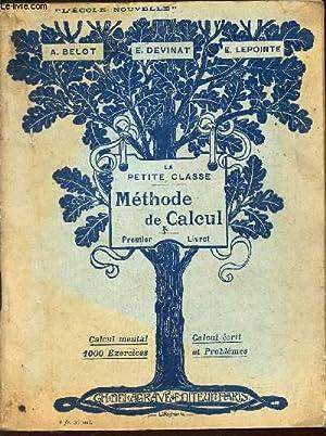 METHODE DE CALCUL - PREMIER LIVRET /: BELOT A. /