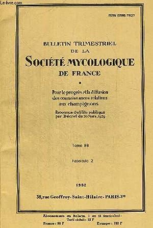 TOME 98 FASC.2. BULLETIN TRIMESTRIEL DE LA: COLLECTIF