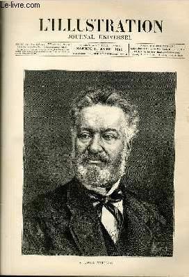 L'ILLUSTRATION JOURNAL UNIVERSEL N° 2094 - GRAVURES : M. Louis Veuillot - l'incendie ...