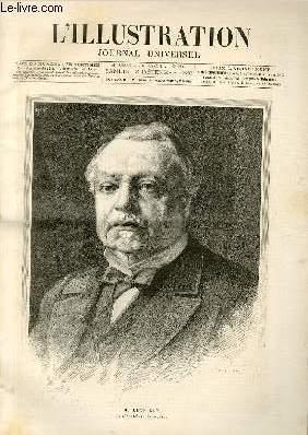 L'ILLUSTRATION JOURNAL UNIVERSEL N° 2286-Gravures : M. Léon Say de l'acad&...