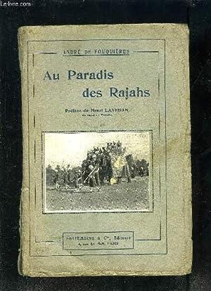 AU PARADIS DES RAJAHS: DE FOUQUIERES ANDRE
