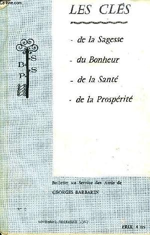 LES CLES N°9 NOV DEC 1967 - BULLETIN AU SERVICE DES AMIS DE GEORGES BARBARIN.: COLLECTIF