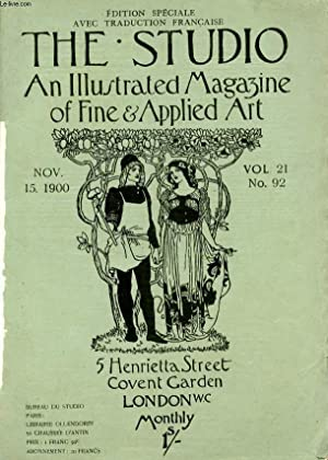 THE STUDIO, AN ILLUSTRATED MAGAZINE OF FINE & APPLIED ART, VOL. 21, N° 92, NOV. 1900 (...