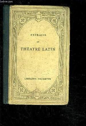 EXTRAITS DU THEATRE LATIN- PLAUTE- TERENCE- TRAGEDIES: RAMAIN G