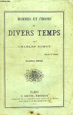 HOMMES ET CHOSES DE DIVERS TEMPS: ROMEY CHARLES