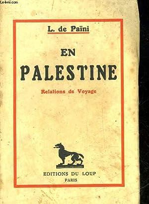 EN PALESTINE: PANI L. DE