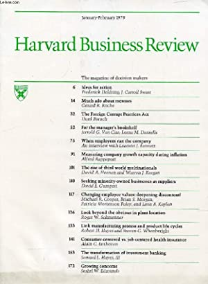 HARVARD BUSINESS REVIEW, JAN.-FEB. 1979 (Contents: Ideas: COLLECTIF
