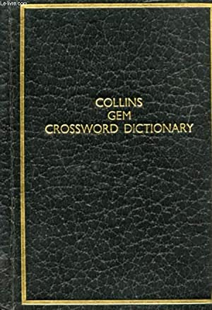 COLLINS GEM CROSSWORD DICTIONARY: WIDDOWSON JOHN