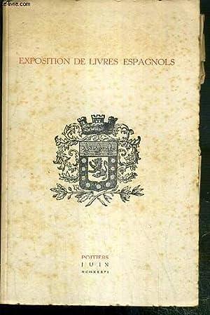 CATALOGUE - EXPOSITION DE LIVRE ESPAGNOLS - POITIERS - JUIN 1936: COLLECTIF