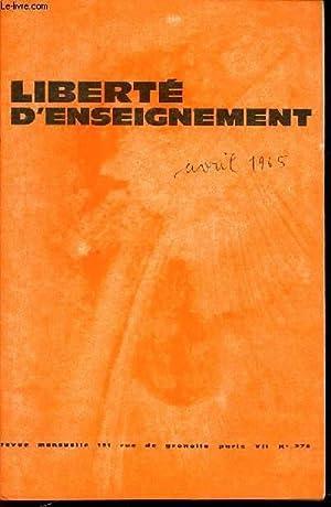 """REVUE """"LIBERTE D'ENSEIGNER"""" N°276 - REVUE MENSUELLE.: COLLECTIF"""