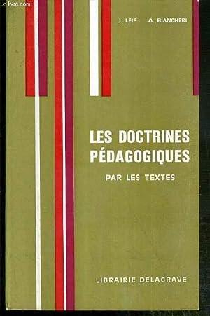 LES DOCTRINES PEDAGOGIQUES PAR LES TEXTES: LEIF J. /