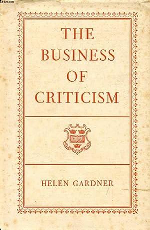 THE BUSINESS OF CRITICISM: GARDNER Helen