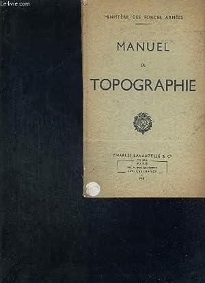 MANUEL DE TOPOGRAPHIE: MINISTERE DES FORCES ARMEES