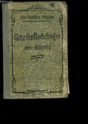 GOTZ VON BERLICHINGEN MIT DER EIFERNEN HAND- Texte en allemand: GOETHE- MENEAU