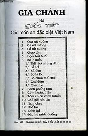 GIA CHANH QUOC VIET CAC MON AN DAC BIET VIET NAM: COLLECTIF