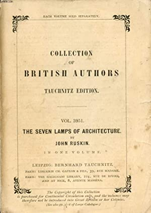 THE SEVEN LAMPS OF ARCHITECTURE (COLLECTION OF: RUSKIN John