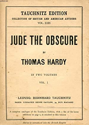 JUDE THE OBSCURE, 2 VOLUMES (COLLECTION OF: HARDY THOMAS