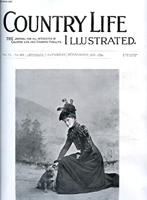 COUNTRY LIFE ILLUSTRATED, VOL. VI, N° 143, SEPT. 1899 (Contents: Our Frontispiece. Lady Kathleen ...