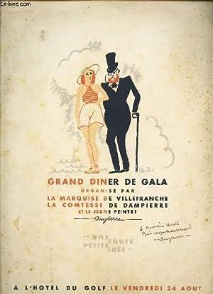 PLAQUETTE : GRAND DINER DE GALA ORGANISE: SERRE GUY