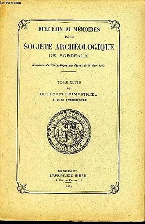 BULLETIN ET MEMOIRES DE LA SOCIETE ARCHEOLOGIQUE: COLLECTIF
