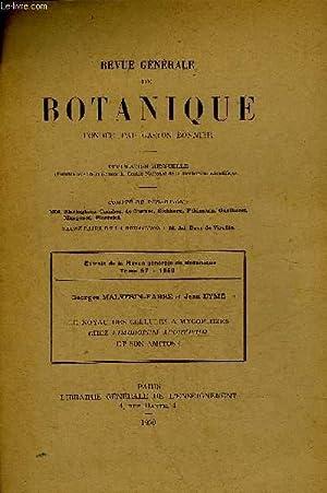 EXTRAIT DE LA REVUE GENERALE DE BOTANIQUE: COLLECTIF