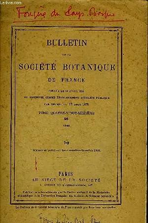 BULLETIN DE LA SOCIETE BOTANIQUE DE FRANCE - TOME 96 - 1949 - 7-9 - Acroceras et eragrostis nouveau...