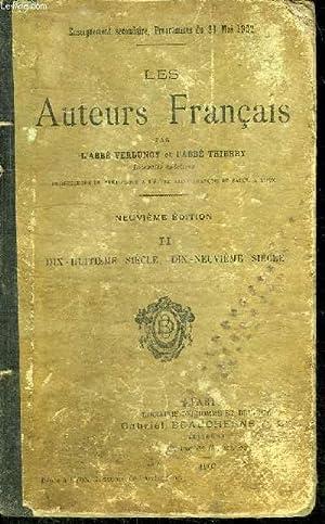 LES AUTEURS FRANCAIS: ABBE VERDUNOY - ABBE THIERRY