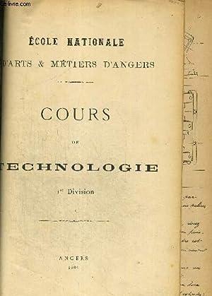 COURS DE TECHNOLOGIE - 1ERE DIVISION: COLLECTIF