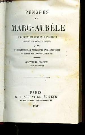 PENSEES DE MARC-AURELE: PIERRON ALEXIS
